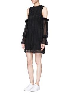NicholasOff-shoulder guipure lace dress