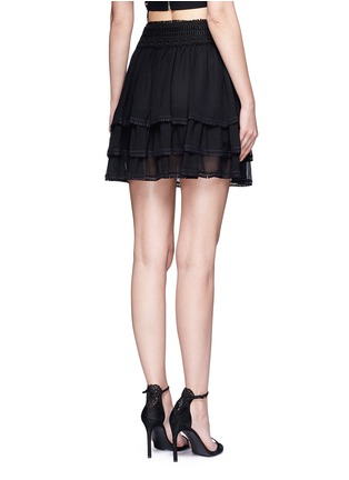Back View - Click To Enlarge - Nicholas - Guipure lace crépon tiered mini skirt