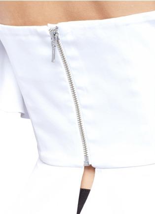 Detail View - Click To Enlarge - Nicholas - Sash tie off-shoulder top