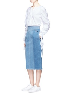Nicholas Stitch waist denim skirt