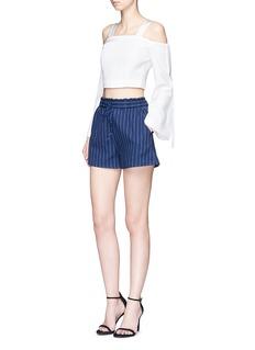 NicholasDrawstring waist pinstripe cotton shorts