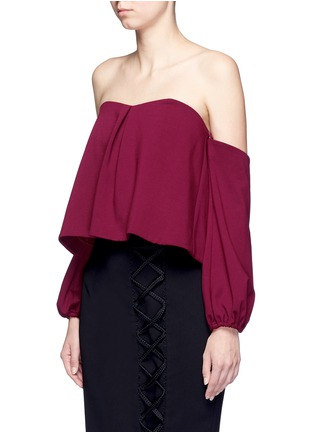 Front View - Click To Enlarge - Nicholas - Detachable sleeve off-shoulder top
