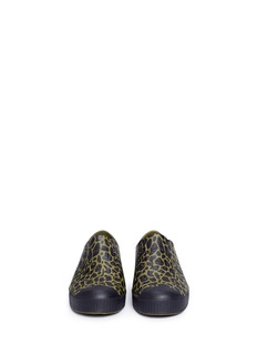 Native 'Jefferson' animal print perforated kids slip-ons