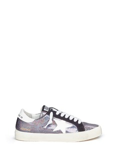 Golden Goose 'May' star patch iridescent glitter leather sneakers