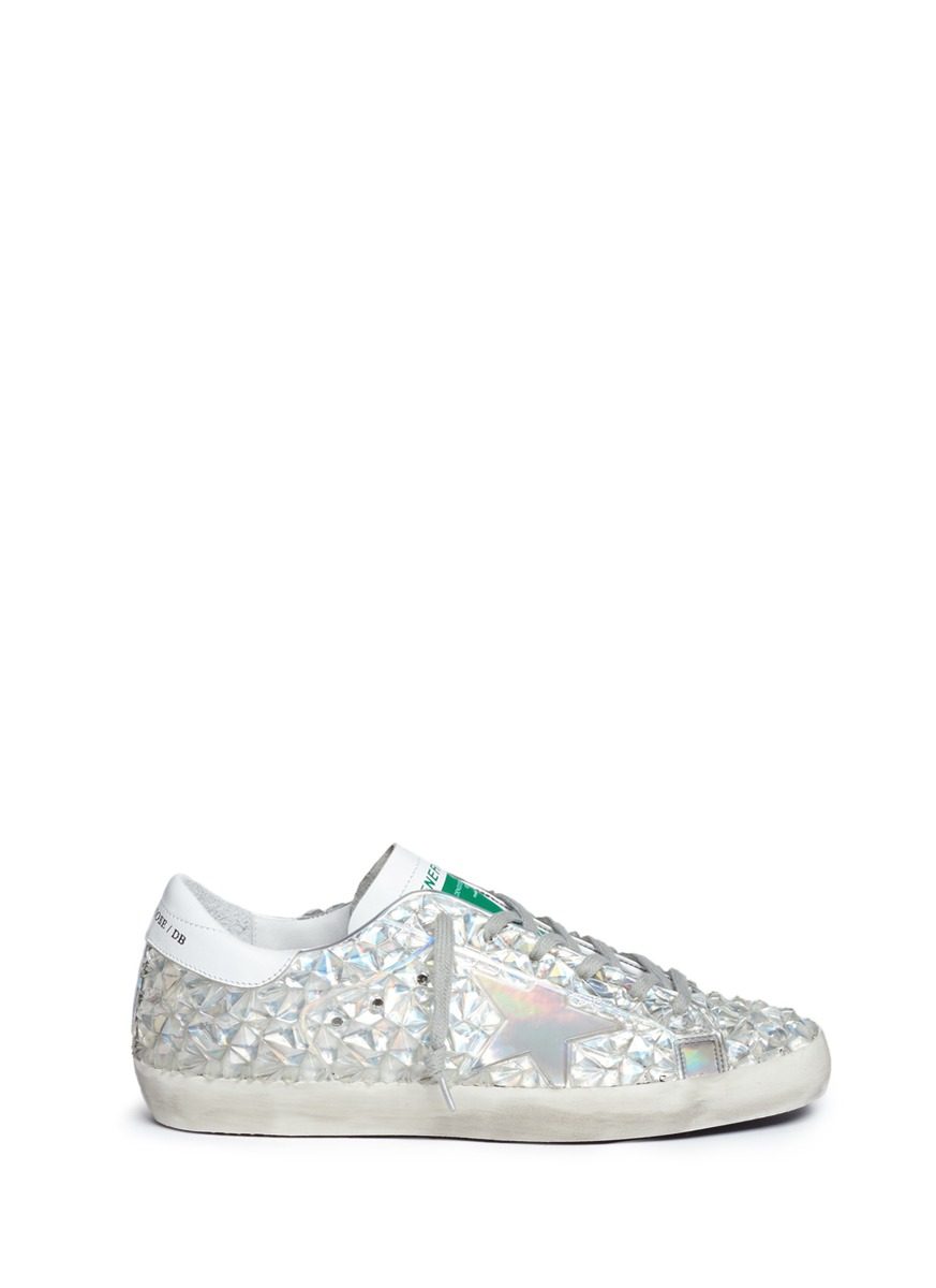 Jelly Diamond iridescent rubber sneakers by Golden Goose
