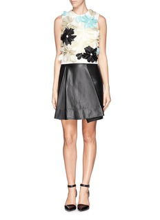 3.1 PHILLIP LIM Fold leather skirt