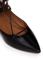 'Belgravia' caged leather flats
