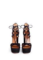 'Beverly Hills' suede platform sandals