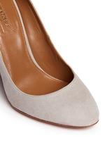 'Alix' chunky heel suede pumps
