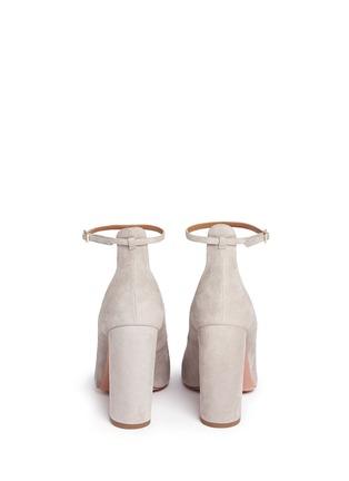 Back View - Click To Enlarge - Aquazzura - 'Alix' chunky heel suede pumps