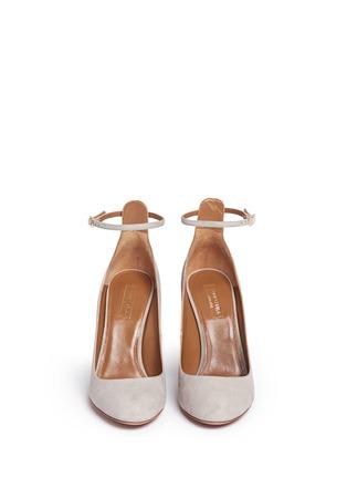 Front View - Click To Enlarge - Aquazzura - 'Alix' chunky heel suede pumps