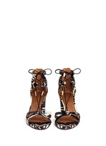 'Beverly Hills 50' caged snakeskin leather sandals