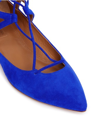 Detail View - Click To Enlarge - Aquazzura - 'Belgravia' caged suede flats