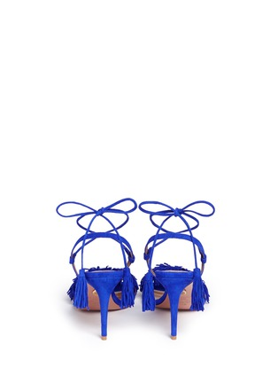 Back View - Click To Enlarge - Aquazzura - 'Wild Thing' fringe suede sandals