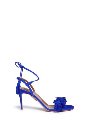 Main View - Click To Enlarge - Aquazzura - 'Wild Thing' fringe suede sandals