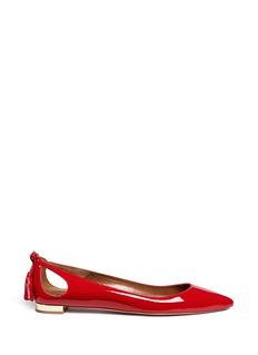 Aquazzura'Forever Marilyn' tassel patent leather flats