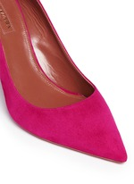 'Forever Marilyn 85' tassel bow cutout suede pumps