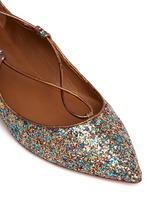 'Christy' metallic glitter lace-up flats