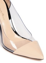 'Plexi 85' clear PVC patent leather pumps