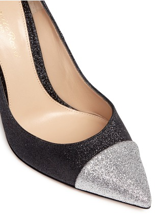 Detail View - Click To Enlarge - Gianvito Rossi - 'Allie' metallic toe glitter pumps