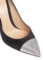 'Allie' metallic toe glitter pumps