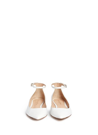 Gianvito Rossi - Ankle strap leather flats