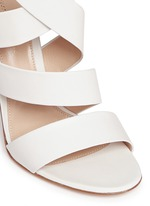 Cross strap nappa leather sandals