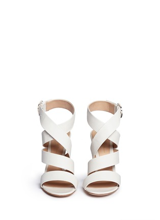 Front View - Click To Enlarge - Gianvito Rossi - Cross strap nappa leather sandals