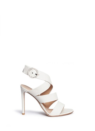 Main View - Click To Enlarge - Gianvito Rossi - Cross strap nappa leather sandals