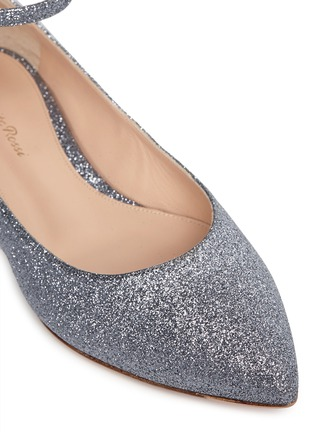 Detail View - Click To Enlarge - Gianvito Rossi - 'Gia' glitter skimmer flats