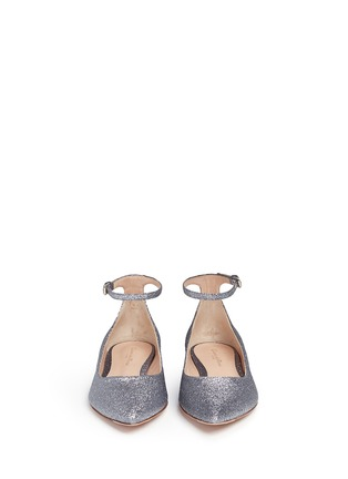 Front View - Click To Enlarge - Gianvito Rossi - 'Gia' glitter skimmer flats