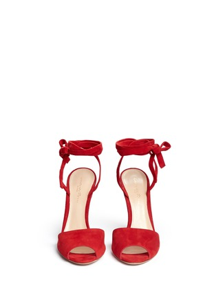 Front View - Click To Enlarge - Gianvito Rossi - 'Josie' ankle strap suede sandals