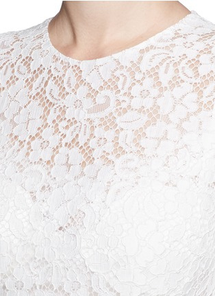 Detail View - Click To Enlarge - Dolce & Gabbana - Dropped hem lace midi dress