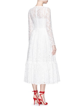Back View - Click To Enlarge - Dolce & Gabbana - Dropped hem lace midi dress