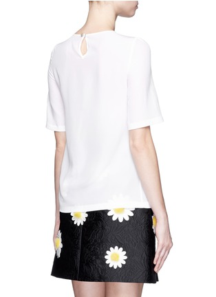 Back View - Click To Enlarge - Dolce & Gabbana - Daisy crystal button silk top