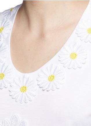 细节 - 点击放大 - DOLCE & GABBANA - 花卉拼贴纯棉T恤