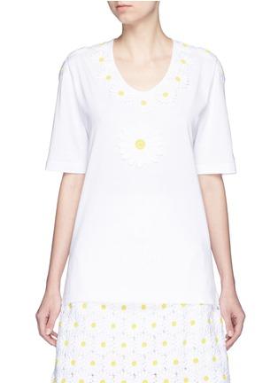 首图 - 点击放大 - DOLCE & GABBANA - 花卉拼贴纯棉T恤
