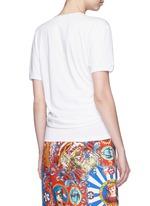Tie waist cotton T-shirt