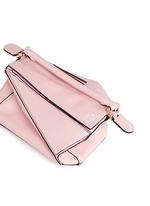 'Puzzle' small calf leather bag