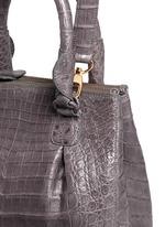 Crocodile leather small crossbody bag