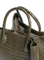Crocodile leather large tote