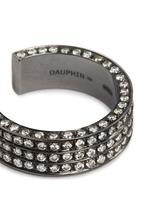 Diamond black rhodium plated 18k white gold three tier open ring