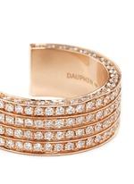 Diamond 18k rose gold four tier open ring