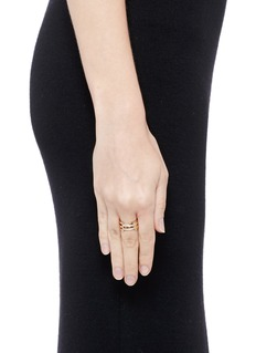 Dauphin Diamond 18k rose gold ring