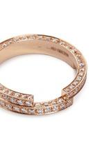 Diamond 18k rose gold two tier ring