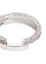 Diamond 18k white gold two tier ring