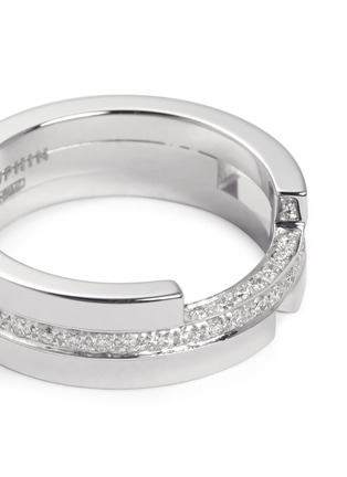 Detail View - Click To Enlarge - Dauphin - Diamond 18k white gold three tier ring