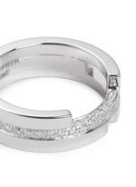 Diamond 18k white gold three tier ring