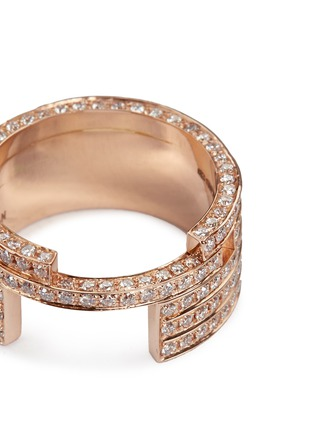 Detail View - Click To Enlarge - Dauphin - Diamond 18k rose gold five tier ring