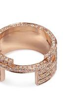 Diamond 18k rose gold five tier ring